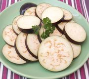 Slices of eggplants Stock Photography