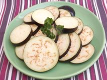 Slices of eggplants Royalty Free Stock Image