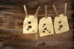Slices of Emmental Royalty Free Stock Photos