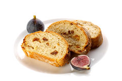 Slices of fig bread Royalty Free Stock Photos
