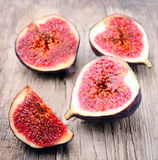 Slices of figs Stock Images