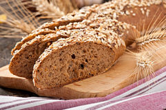 Slices of finest organic bread Royalty Free Stock Images