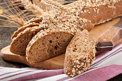 Slices of finest organic bread Royalty Free Stock Photo
