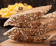 Slices of finest organic bread Royalty Free Stock Photography