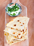 Slices of flatbread Stock Images