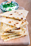 Slices of flatbread Royalty Free Stock Image