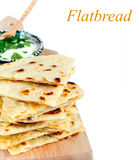 Slices of flatbread Stock Photos