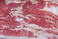 Slices of fresh bacon texture stock photos