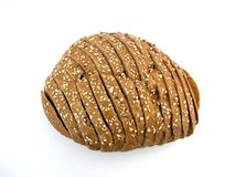 Slices of fresh bread. On white background Royalty Free Stock Photography