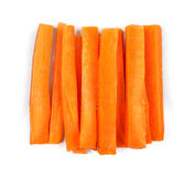 Slices of fresh carrots Stock Photography