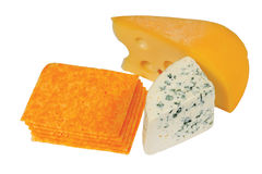 Slices of fresh cheese of different varieties Royalty Free Stock Image