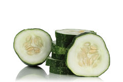 Slices of fresh cucumber Royalty Free Stock Photography
