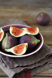 Slices of fresh figs Royalty Free Stock Photo