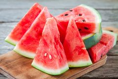 Slices of fresh juicy organic watermelon Royalty Free Stock Photo