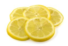 Slices of fresh lemon Royalty Free Stock Images