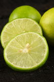 Slices of Fresh Limes royalty free stock photography