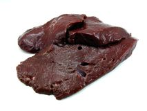 Slices of fresh liver Stock Photo