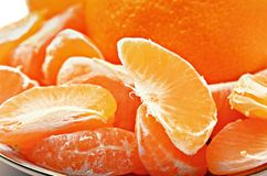 Slices of fresh mandarin Royalty Free Stock Photo
