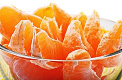 Slices of fresh mandarin Royalty Free Stock Photography