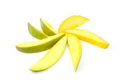 Slices of fresh mango in shape of star Stock Photography