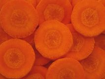 Slices of fresh organic carrot Royalty Free Stock Photo