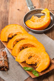 Slices of fresh pumpkin Royalty Free Stock Photography