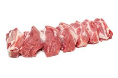 Slices of fresh raw meat Royalty Free Stock Photography