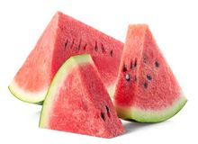 Slices of fresh ripe watermelon royalty free stock images