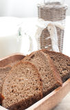 Slices of fresh rye bread Royalty Free Stock Image