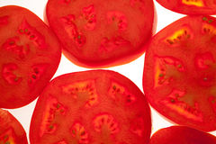 Slices of fresh tomatoes Stock Photography