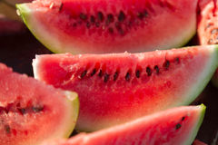 Slices of fresh watermelon Stock Photography