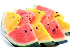 Slices of fresh watermelon fruit Stock Photography