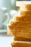 Slices of fresh white bread Royalty Free Stock Photography