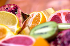 Slices of fruit Stock Photography