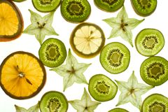 Slices fruit royalty free stock photo