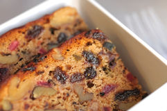 Slices of fruit cake Stock Photography