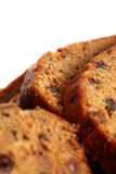 Slices of fruit cake Royalty Free Stock Images