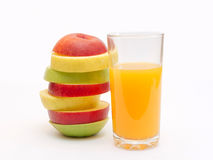 Slices of fruit and juice Royalty Free Stock Photos