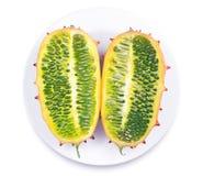 Slices of fruit Kiwano Stock Photo