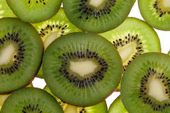 Slices of fruit kiwi  on white background Royalty Free Stock Photos