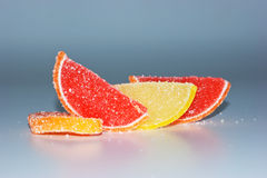 Slices of fruit in sugar Royalty Free Stock Images