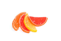 Slices of fruit in sugar Royalty Free Stock Photos