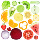Slices of fruit and vegetable Royalty Free Stock Image