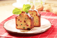 Slices of fruitcake Stock Image