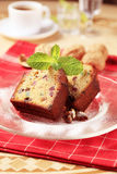 Slices of fruitcake Stock Photos