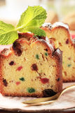 Slices of fruitcake Royalty Free Stock Photos