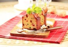 Slices of fruitcake Royalty Free Stock Image