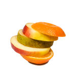 Slices fruits Stock Photography