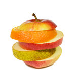 Slices fruits Royalty Free Stock Images