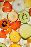 Slices of fruits Royalty Free Stock Photography